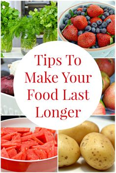 Easy tips you can use in your kitchen to help food and groceries last longer. Stop wasting money throwing out food that has gone bad or rotten too fast with these simple ideas!