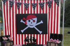 Backdrop for a pirate party
