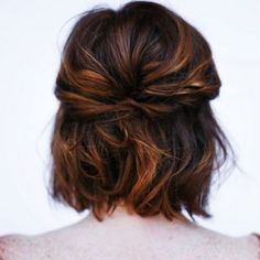Cute Easy Updo for Short Hair