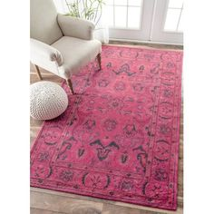 nuLOOM Remade Kimberly Overdyed Style Area Rug | AllModern