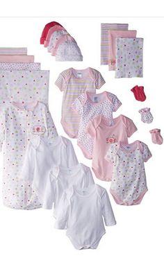 SpaSilk Baby Girls  Newborn 23-Piece Essential Baby Layette Set. Baby gift  set b5543d0c9