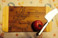 Tinkerbell+Cutting+Board+by+DesignsByDagenais+on+Etsy,+$25.00