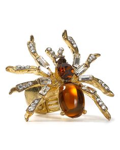 Spider ring - (insects, bugs, spider sparklies, jewelry)