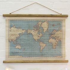 https://www.sassandbelle.co.uk/Vintage Map Wall Hanging Canvas Print
