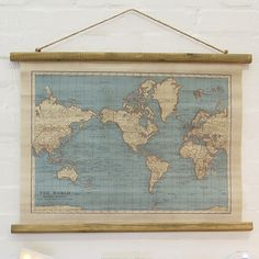https://www.sassandbelle.co.uk/Vintage Map Wall Hanging Canvas Print