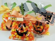 www.PattyStamps.com - use printed My Digital Studio jack o lantern faces and trace onto cello bags for quick and cute Halloween treat