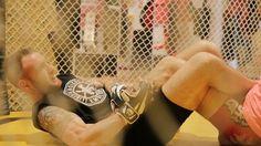 """Javi Roche entrenando para el combate el 18 de junio Vall D'Hebron, José Luis Zapater """"Titin"""" vs. Javi Roche """"Chatarras""""."""
