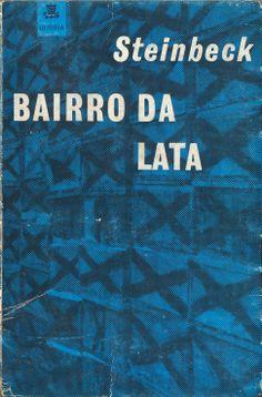 Bairro de Lata - John Steinbeck   Capa de Sebastião Rodrigues (versão azul)