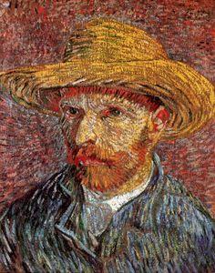 "Vincent van Gogh: ""Self-Portrait with Straw Hat"",1887. (Metropolitan Museum of…"