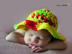 #Crochet sun hat free pattern @SCCelinaLane