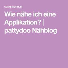 Wie nähe ich eine Applikation? | pattydoo Nähblog