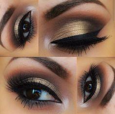 Kaki/Gold eyeshadow