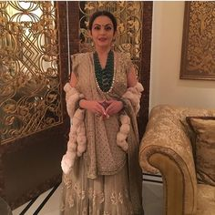 Nita Ambani takes winter fashion to another level with the fur shawl To purchase this product mail us at houseof2@live.com  or whatsapp us on +919833411702 for further detail #sari #saree #sarees #sareeday #sareelove #sequin #silver #traditional #ThePhotoDiary #traditionalwear #india #indian #instagood #indianwear #indooutfits #lacenet #fashion #fashion #fashionblogger #print #houseof2 #indianbride #indianwedding #indianfashion #bride #indianfashionblogger #indianstyle #indianfashion…