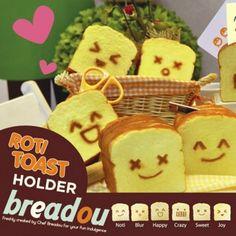 Squishy Kawaii Breadou Roti Toast Desk Organizer with Chocolate Scent LIMITED
