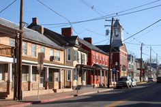 MARYLAND ~ Boonsboro downtown. Many historic places in the small town. Author Nora Roberts lives here, and has written a trilogy that include the Boonboro Inn, and the town, which are especially interesting.