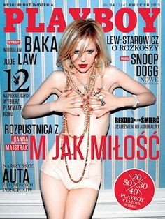 Playboy (Poland) April 2013 with Joanna Majstrak on the cover of the magazine