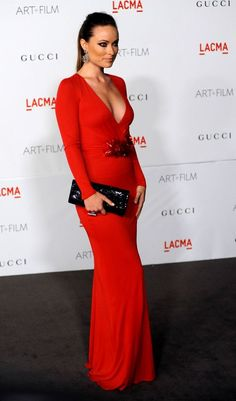 olivia wilde in red
