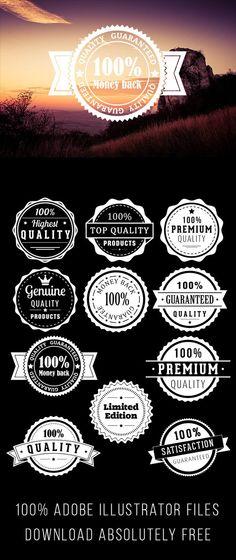 Free Vector Badges on Behance
