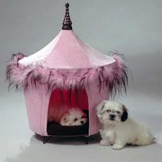 Pink Dog Tent Bed