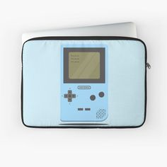 'Blue Nintendo Game Boy ' Laptop Sleeve by SinandTonic Nintendo Games, Nintendo Consoles, Macbook Air Pro, Game Boy, Sleeve Designs, Back To Black, Laptop Case, Iphone Wallet, Laptop Sleeves