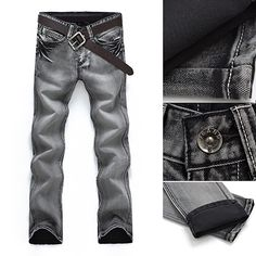 >> Click to Buy << Classic Men Mid-Rise Straight Casual Denim Jeans Long Pants Fashion Trousers #Affiliate