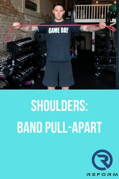 Band Pull Apart  See how we integrate these into our programs at reformedathletes.com/reform-xclusive Shoulder Exercises, Shoulder Workout, Pull Apart, Band, Separate, Sash, Shoulder Training, Ribbon, Bands