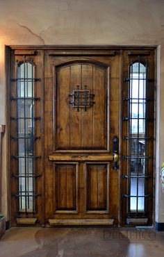 This Spanish door with sidelights is one of our FAVORITE doors!