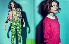 "Konstancja Skawinska  - editorial ""Colour Calling"" for Mess Magazine  Photographer: Weronika Kosinska"