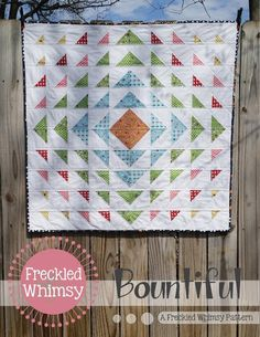 Bountiful is a simple, yet dramatic design that sews up quickly to give as a gift or to donate to a charity. Download this free quilt patte...
