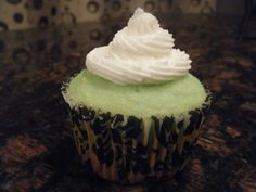 lemon lime cupcake with tequila buttercream (Fall/13)