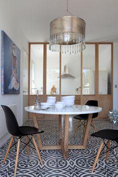 Dima table / oak + carrare marble