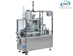 China good automatic Dolce gusto coffee capsule filler and sealer machine,auger filler suitable for various powder products: coffee, tea, hot chocolate etc