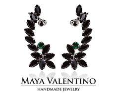 Climbing earrings Silver ear cuff Elegant earrings Fancy Black Prom Earrings, Bridal Earrings, Climbing Earrings, Statement Earrings, Stud Earrings, Ear Crawler Earrings, Silver Ear Cuff, Jewelry Model, Selling Jewelry