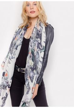 Cashmere Silk Scarf - Pollock by VIDA VIDA QOnBdq