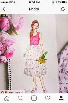 Image may contain: 1 person Dress Design Drawing, Dress Design Sketches, Fashion Design Sketchbook, Fashion Design Drawings, Dress Drawing, Fashion Sketches, Fashion Figure Drawing, Fashion Drawing Dresses, Fashion Illustration Dresses