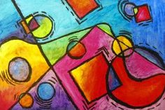 Kandinsky inspired oil pastel project, another possible 5th grade Square 1 project