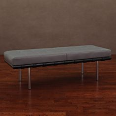 Andalucía Charcoal Leather Bench