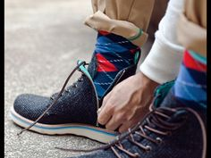 Blue & Red argyle socks by *Happy Socks*