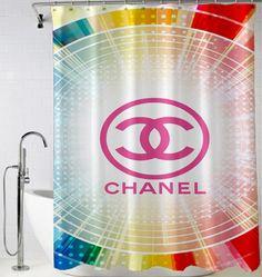 #Chanel #logo #pink #Shower #Curtain