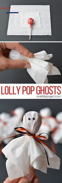 Lolly Pop Ghosts - #schoolparties - These lolly pop ghosts are SO CUTE! They're super easy and make a fun treat for a Halloween party or to send to school on Halloween!... Halloween Donuts, Halloween Party Games, Happy Halloween, Halloween Treats For Kids, Kids Party Games, Halloween Crafts, Halloween Decorations, Halloween Night, Halloween Candy