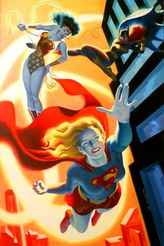 Diana, Babs & Kara by Steve Rude