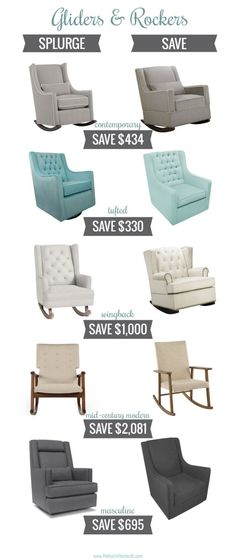 Wow, this round up of nursery gliders and rockers is great! It has a ton of different styles and one for every budget too!