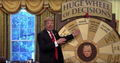 President Trump backs up the press' assertion that he is just spinning a great big wheel of chaos. - The Tonight Show Starring Jimmy Fallon | Whipclip