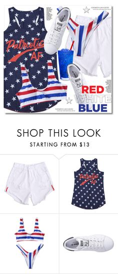 Red, White & Blue: Celebrate the 4th! by paculi on Polyvore featuring adidas Originals and fourthofjuly