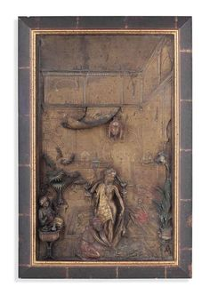 AN AUSTRIAN COLD-PAINTED SPELTER ORIENTALIST PANEL FIRST QUARTER 20TH CENTURY, CAST BY FRANZ BERGMAN OF VIENNA  Price realise