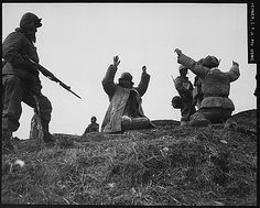 Men of the Marine Division capture Chinese Communists during fighting on the central Korean front near Hoengsong on March Usmc, Marines, War Of Attrition, Turkish Army, Prisoners Of War, Korean War, North Korea, Vietnam War, Military History