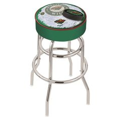 Minnesota Wild NHL D2 Retro Chrome Bar Stool, Available in 25-inch and 30-inch seat heights. Visit SportsFansPlus.com for details.