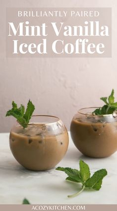 Vanilla Iced Coffee, Pick Me Up, Spring Recipes, Recipe Collection, Whole Food Recipes, Coffee Shop, Brunch, Mint, Favorite Recipes