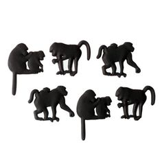 Puhlmann and The Zoo Set of 6 Monkey Magnets