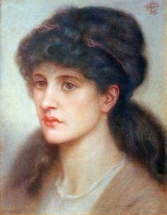 Portrait of Maria Theresa Zambaco (1843 – 1914) by Dante Gabriel Rossetti.